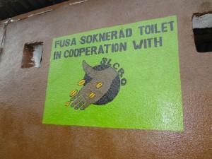 Fusa Sokneråd bygget et toalett på Bissau